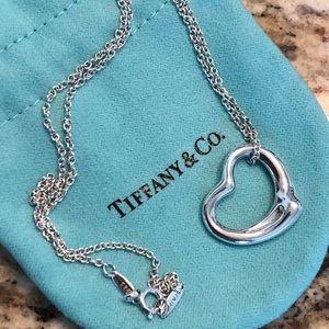 Tiffany Elsa Peretti Open Heart Pendant